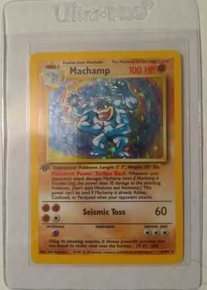 1999 Pokemon Game First Edition Machamp for Sale in Cicero, IL