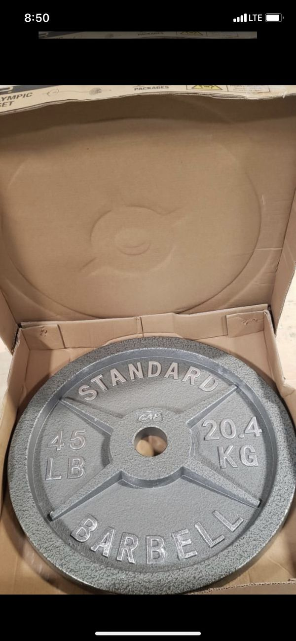 Weight Plates (2x45s) BRAND NEW IN THE BOX