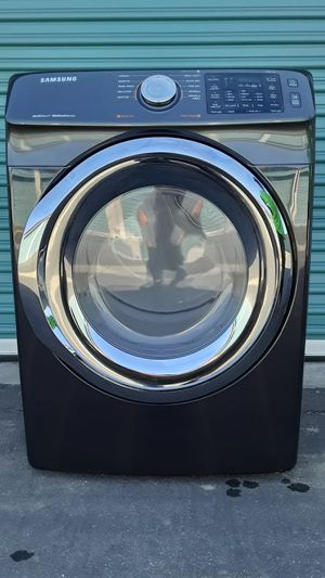 Black Stainless Steel Front Load Samsung Dryer for Sale in Chino, CA