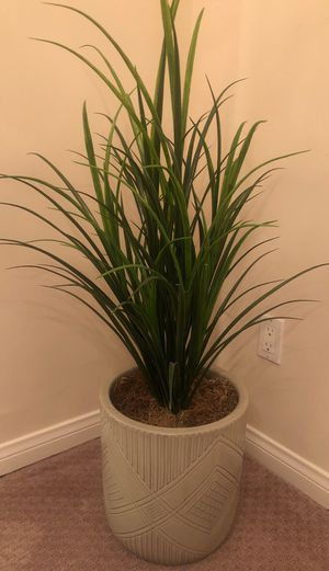Fake plant with ceramic pot for Sale in Huntington Beach, CA