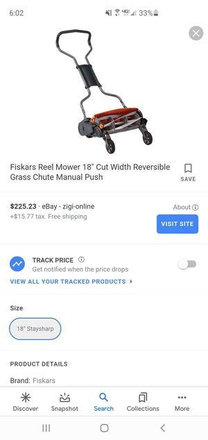 Friskers Manual Push Lawn Mower for Sale in Belton, SC