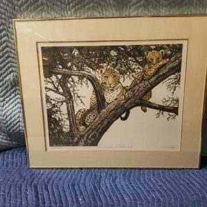 "Caroline Shultz Signed ""Leopards In A Tree"" for Sale in Lake Elsinore, CA"