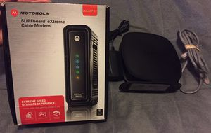 Used PERFECT WORKING CONDITION MOTOROLA SURFBOARD eXtreme Cable Modem & Belkin N150 Wireless Router for Sale in Mocksville, NC