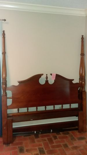 Cherry wood , Queen 4 poster bed frame for Sale in Bush, LA