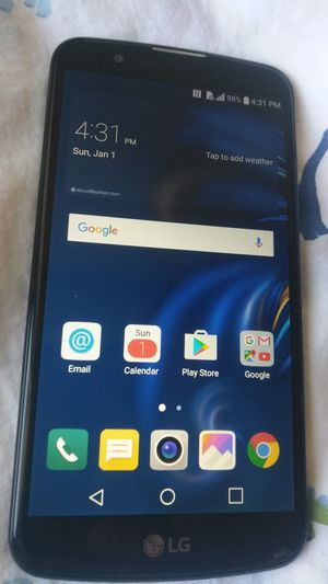 ANDROID LG K40 UNLOCKED UNLOCKED FOR ANY CARRIER WORKING GREAT, T-MOBILE MET for Sale in Los Angeles, CA