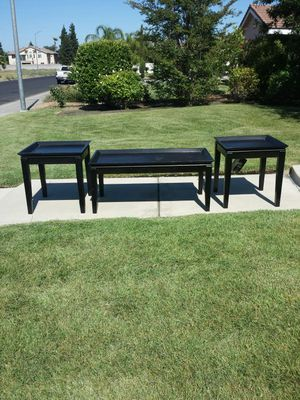Black Coffee Table and 2 End Tables for Sale in Clovis, CA