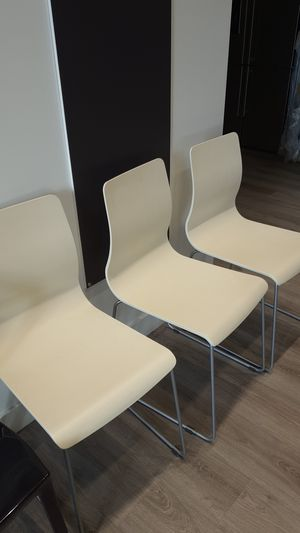 3 dining chairs Italian furniture white for Sale in Las Vegas, NV
