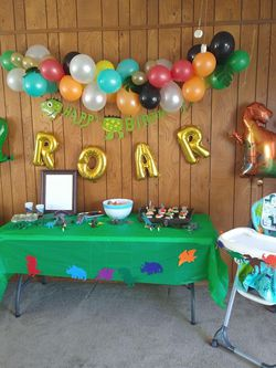 Dino Themed Party Decorations for Sale in Garland,  TX