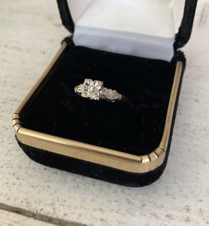 Solid 14K white gold and genuine diamond ring for Sale in Irving, TX