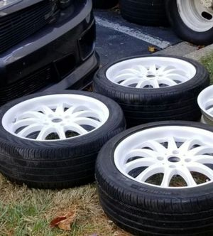 4 18 in 4x114.3 wheels rims and tires for Sale in Rockville, MD