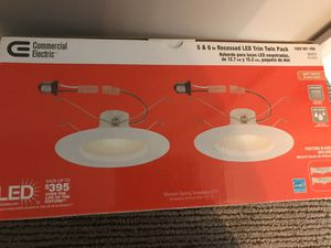 6 inch LED disk light with trim package for Sale in Arlington, VA