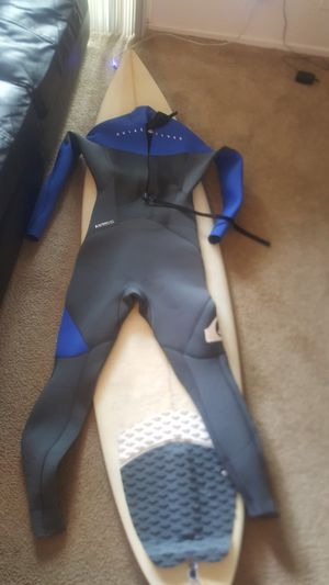 surfboard + Wetsuit for Sale in Concord, CA