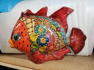 TALAVERA FISH -FLOWER POT VASE - MEXICAN DECOR for Sale in Phoenix, AZ