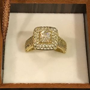 18K Gold plated Engagement/Wedding Ring - Code JL67 for Sale in Sacramento, CA