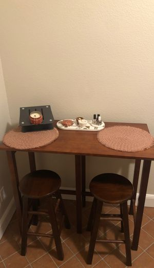 Wooden kitchen bar stool and table for Sale in San Francisco, CA