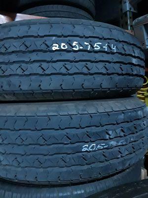 (2)* 205/75/14 trailer tires for Sale in Salt Lake City, UT