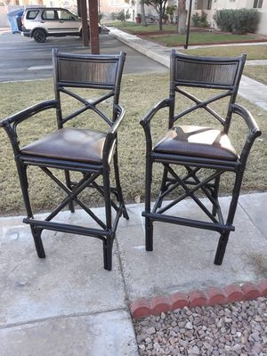 Tall Bamboo Bar Stools for Sale in Las Vegas, NV