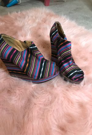 Colorful zip wedges for Sale in Chandler, AZ