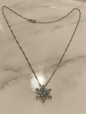 Aqua marine snow flake necklace for Sale in Martin, GA