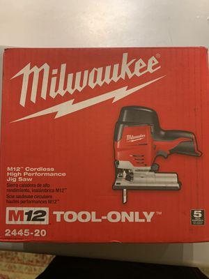 Milwaukee cordless jig saw for Sale in Everett, WA