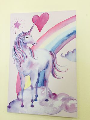 New Unicorn Canvas Painting for Room Decor for Sale in Kirkland, WA