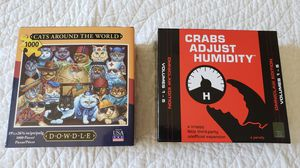 Cat Puzzle and Crabs Adjust Humidity game for Sale in Rancho Cucamonga, CA