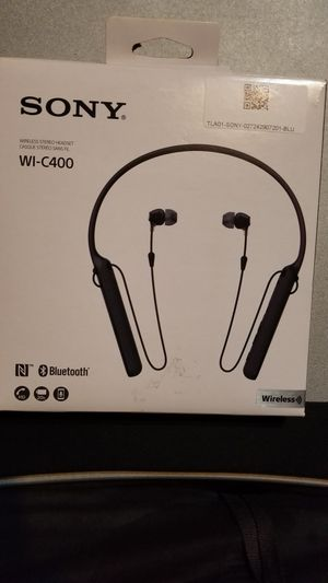 Sony WI-C400 Wireless Headphones Bluetooth Neckband Earbuds NFC 20 Hour Battery for Sale in Houston, TX