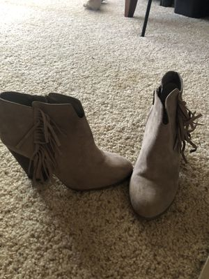 Carlos size 8 fringe booties for Sale in Pittsburg, CA
