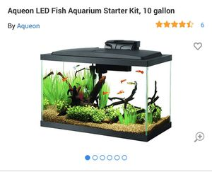 10 gallon tank with temperature control, filter , light , thermometer etc for Sale in Belmont, CA