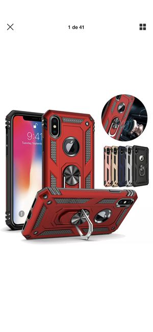 For iPhone XS Max XR 7 8 Plus 6S Armor Shockproof Magnetic Ring Stand Case Cover for Sale in Hanford, CA