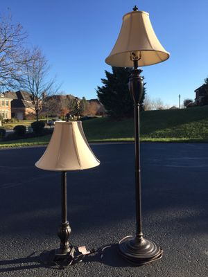 Lamps - Matching floor and end table. for Sale in Ashburn, VA