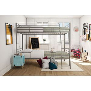 Mainstays twin over twin convertible bunk bed, Silver for Sale in Alexandria, VA