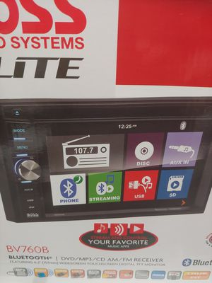 Car stereo : Boss Elite multimedia dvd receiver touch screen bluetooth aux usb sd card 320 watts remote control for Sale in Bell Gardens, CA