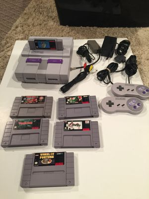 Super Nintendo with 6 Games for Sale in Grove City, OH