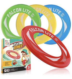 4-Pack Falcon Lite Flying Disc Rings - 2018 Hot Outdoors Game, Beach Games, Water - Summer Toys For Kids - Outdoor Gifts & Best Gift For Teen Boys, G for Sale in Brooklyn, NY
