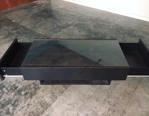 Glass coffee table with drawers for Sale in Tampa, FL