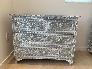 Mother of pearl gray inlay dresser chest for Sale in Miami, FL