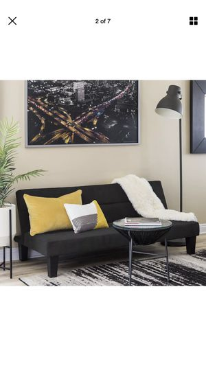 BRAND NEW BLACK FUTON SOFA BED ONLY 299 for Sale in Lockport, NY