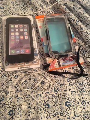 2 iPhone Waterproof Cases W / Headphones for Sale in Pompano Beach, FL
