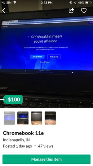 Chromebook 11e for Sale in Indianapolis, IN