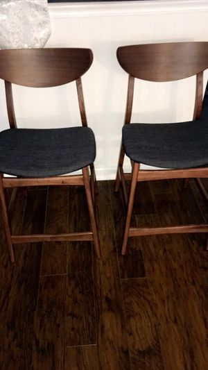 Modern pair of two bentwood frame swivel bar stool chairs $85 price not negotiable firm for Sale in Hammond, IN