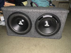 """2 12"""" jl audio 12w0-4 subwoofers in sealed enclosure for Sale in Port Orchard, WA"""
