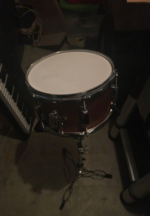 """6"""" deep x 10"""" snare drum with stand and drumsticks for Sale in Post Falls, ID"""