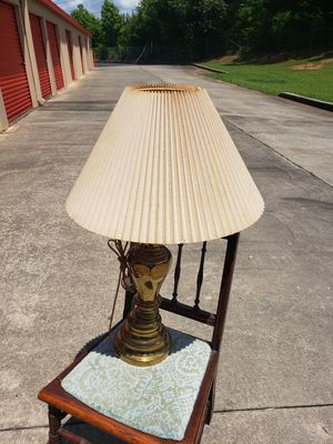Antique Golden lamp w shade for Sale in McDonough, GA