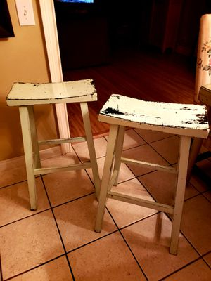 Pottery Barn Tibetan Bar Stools x (2) for Sale in Anaheim, CA