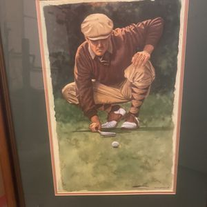 Large Framed Golf Phot for Sale in Tigard, OR