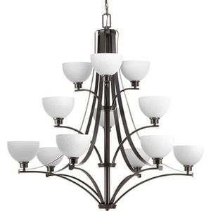 NEW IN BOX 3-tier 12 Light Chandelier in Antique Bronze for Sale in Prospect Heights, IL
