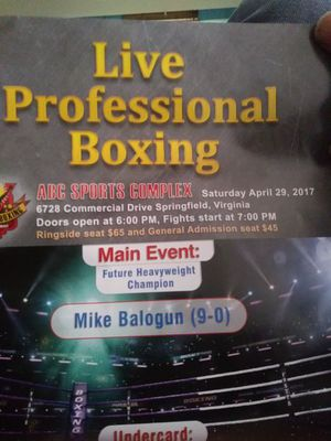 Professionsl boxing tickets for Sale in Washington, DC
