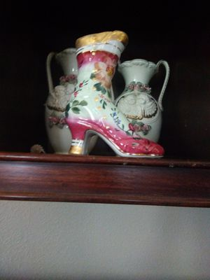 Porclain good pink vintage boot for Sale in Fort Worth, TX