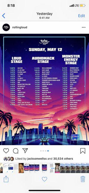 Rolling loud Sunday ticket for Sale in Boca Raton, FL